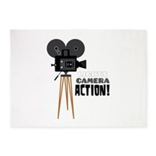 Lights Camera Action! 5'x7'Area Rug