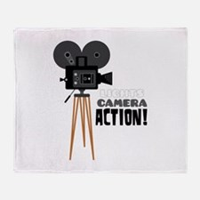 Lights Camera Action! Throw Blanket