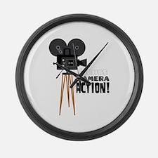 Lights Camera Action! Large Wall Clock