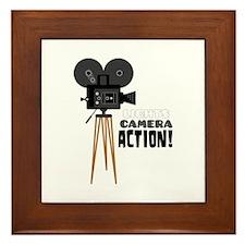 Lights Camera Action! Framed Tile