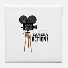 Lights Camera Action! Tile Coaster