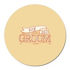 Groom 2014 May Round Car Magnet