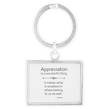 Appreciation is a wonderful thing Keychains