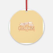 Groom 2014 September Ornament (Round)
