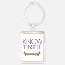 Know Thyself Portrait Keychain