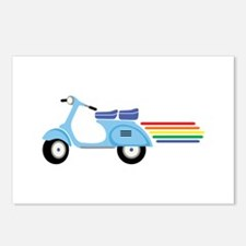 Rainbow Scooter Postcards (Package of 8)