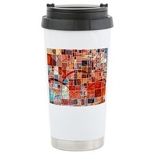 Abstract Squares Design Travel Coffee Mug