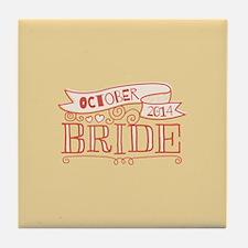Bride 2014 October Tile Coaster