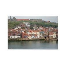 Whitby Lower Harbour Rectangle Magnet