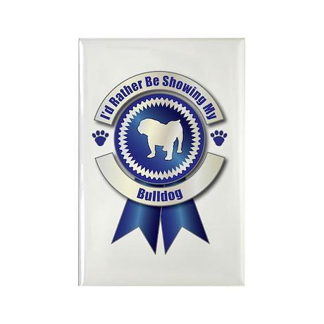 Showing Bulldog Rectangle Magnet (100 pack)