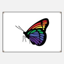 Rainbow Butterfly Gay Pride Banner