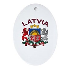 Latvia Coat of Arms Oval Ornament