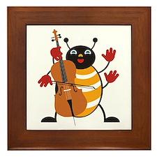 Cello Bug Framed Tile