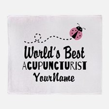 World's Best Acupuncturist Throw Blanket