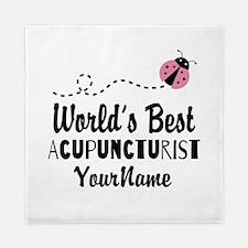 World's Best Acupuncturist Queen Duvet