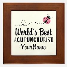 World's Best Acupuncturist Framed Tile