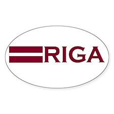 Riga, Latvia Oval Decal