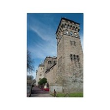 Clock tower at Cardiff Castle Rectangle Magnet