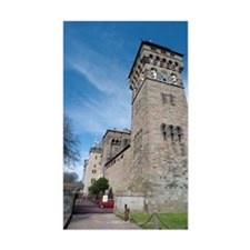 Clock tower at Cardiff Castle Bumper Stickers