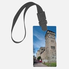 Clock tower at Cardiff Castle Luggage Tag