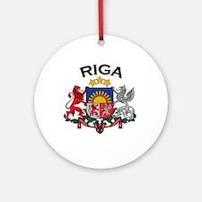 Riga, Latvia Coat of Arms Ornament (Round)