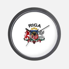 Riga, Latvia Coat of Arms Wall Clock