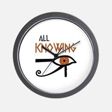 ALL KNOWING Wall Clock