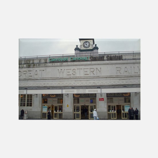 cardiff central station Rectangle Magnet