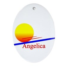 Angelica Oval Ornament