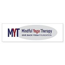 Mindful Yoga Therapy Logo Bumper Bumper Sticker
