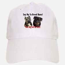 Say No To Breed Bans! Baseball Baseball Cap