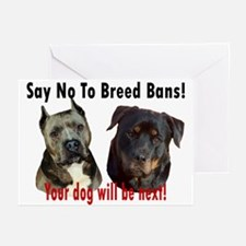 Say No To Breed Bans! Greeting Cards (Pk of 10