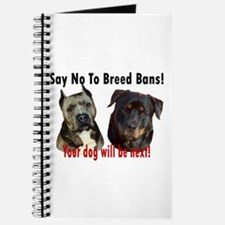 Say No To Breed Bans! Journal