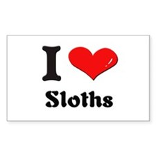 I love sloths Rectangle Decal