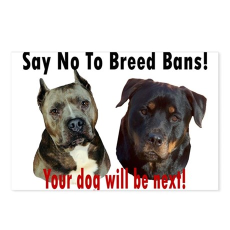 Say No To Breed Bans! Postcards (Package of 8)