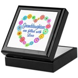 Granddaughters Square Keepsake Boxes