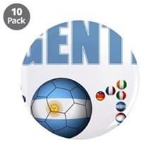 """Argentina soccer 3.5"""" Button (10 pack)"""
