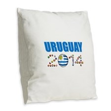 Uruguay soccer futbol Burlap Throw Pillow