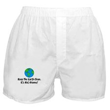 Keep The Earth Clean Boxer Shorts