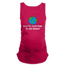 Keep The Earth Clean Maternity Tank Top