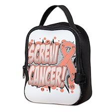 Screw Uterine Cancer Neoprene Lunch Bag