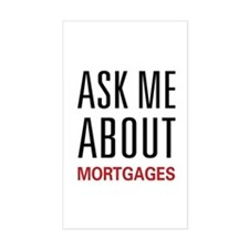 Ask Me Mortgages Rectangle Decal