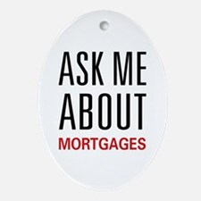 Ask Me Mortgages Oval Ornament