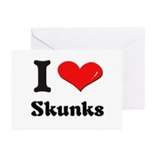 I love skunks  Greeting Cards (Pk of 10)