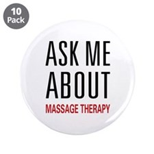 """Massage Therapy 3.5"""" Button (10 pack)"""