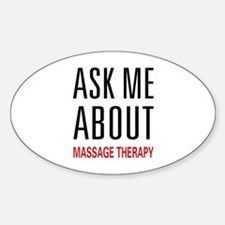 Ask Me Massage Oval Decal