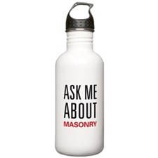 Ask Me About Masonry Water Bottle