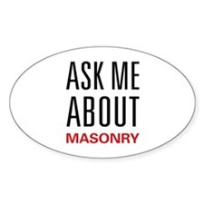 Ask Me About Masonry Oval Decal