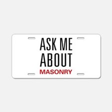 Ask Me About Masonry Aluminum License Plate