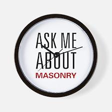 Ask Me About Masonry Wall Clock